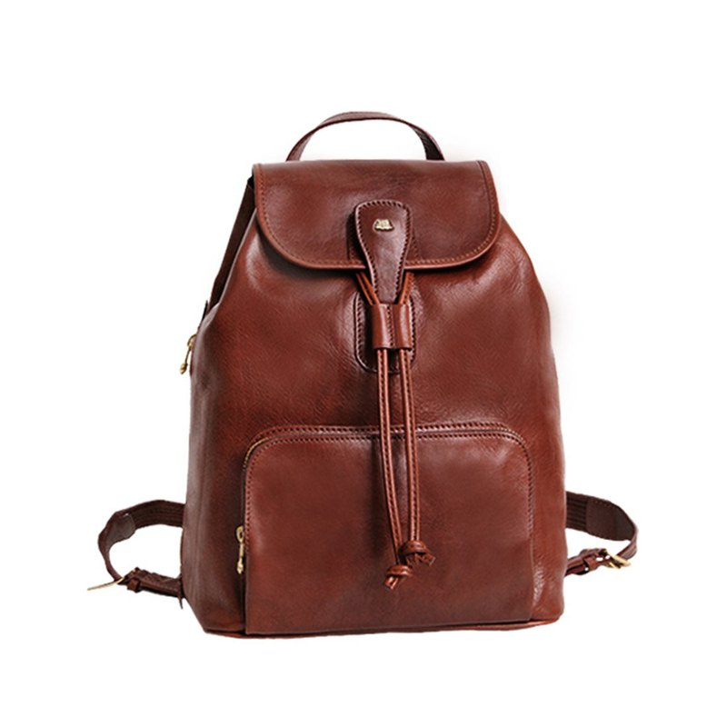 Leather beam back backpack