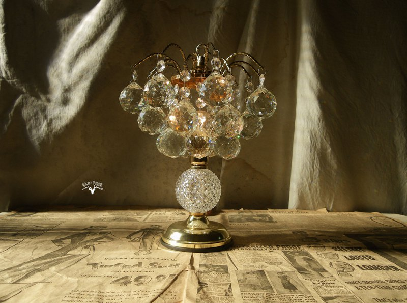 [Old Time OLD-TIME] Early Crystal Glass Table Lamp (Gold)*Taiwan Country Only Post Office*