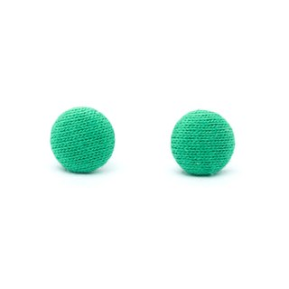 Circle dot straw green stainless steel earrings earrings weave earrings 209