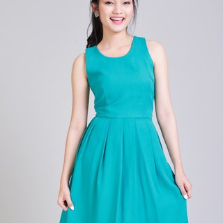 Vintage Style Party Dress Jade Green Dress Bridesmaid Dress Backless Dress PArty