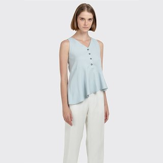 Asymmetric Buttoned Top (Mint)