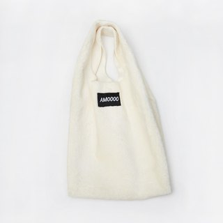 AM0000 ||| white fluff FAGII small handbag faux fur