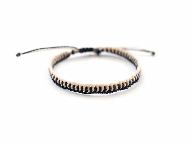 Navy blue Cream woven bracelet - waterproof bracelet