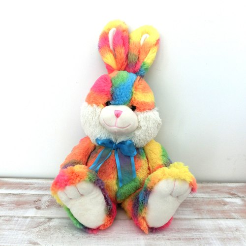 CANDY BEAR 18-inch long-legged rabbit - rainbow candy