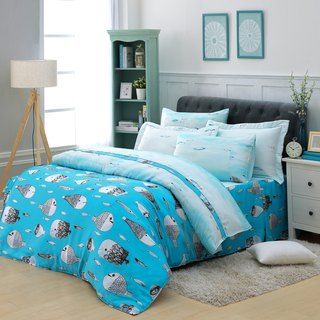 Double size sea sound - Tencel dual-use bedding set of six [100% Lysell] emperor fold design