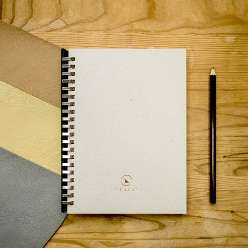 Gray Cardboard Loose leaf removable A5 notebook