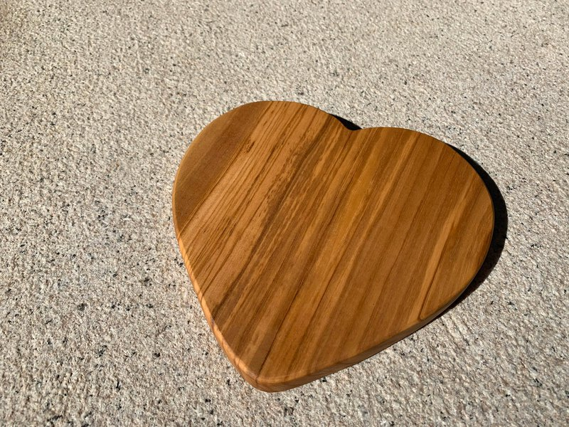 Italy Zen Forest olive wood love solid wood heat insulation pad / tray 20cm