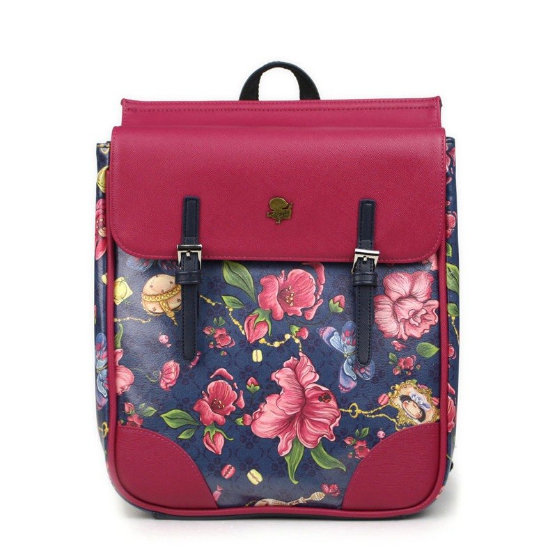 Stephy Designer  Red Flower Floral Cute Art Design Printed Backpacks