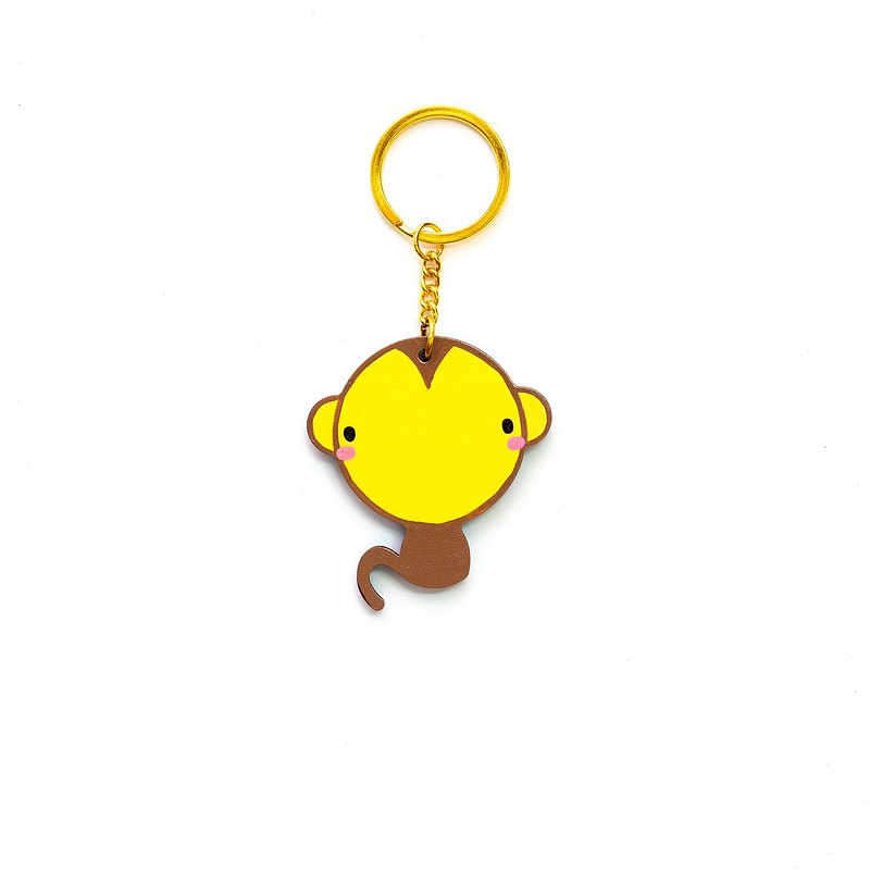 Monkey Wooden keychain Customized