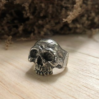 Memento Mori skull ring Jewelry heavy metal gothic biker handmade Pirate rocker