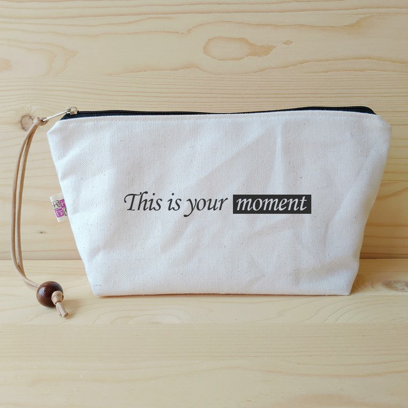 Positive energy cosmetic bag_this is your moment