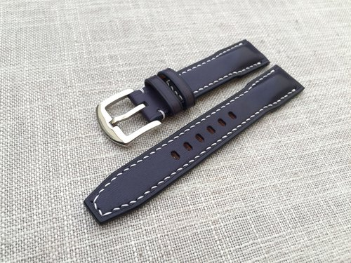 Navy Blue Flying Watch Strap / Hand Strap / Leather Strap / Custom Strap