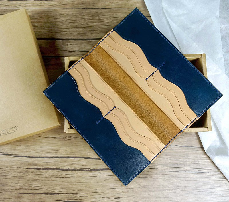 [Leather Course] Simple Curve Long Clips | Handmade Leather Goods | Wallets | Money Clips | Cards