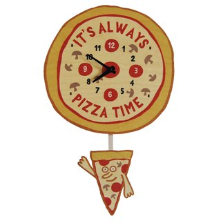 modern moose-3D clock-pizza-time-pendulum-clock