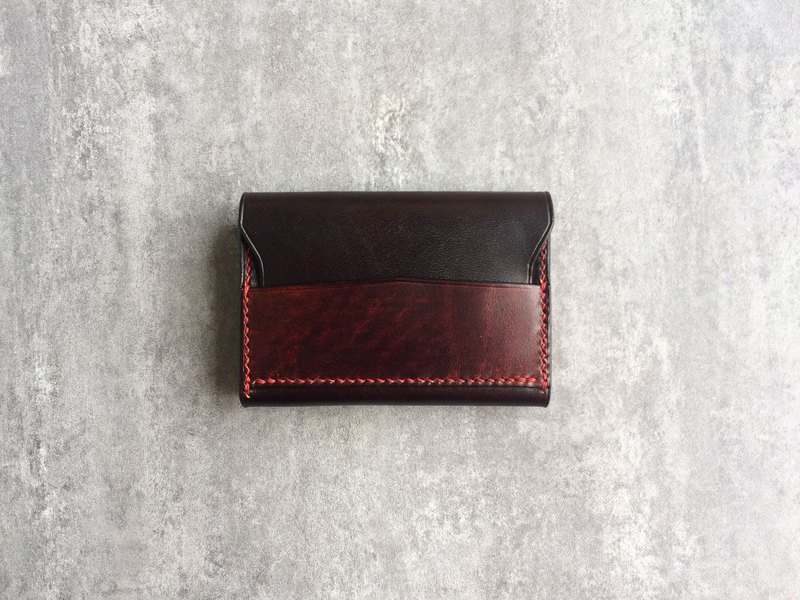 Simple leather brown men's business card bag / business card holder / card holder
