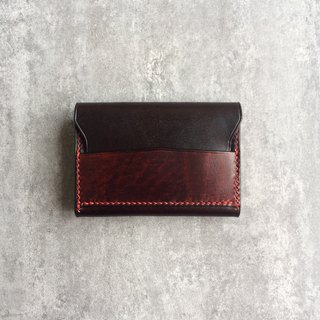 Simple leather brown men's business card package / card holder / card package
