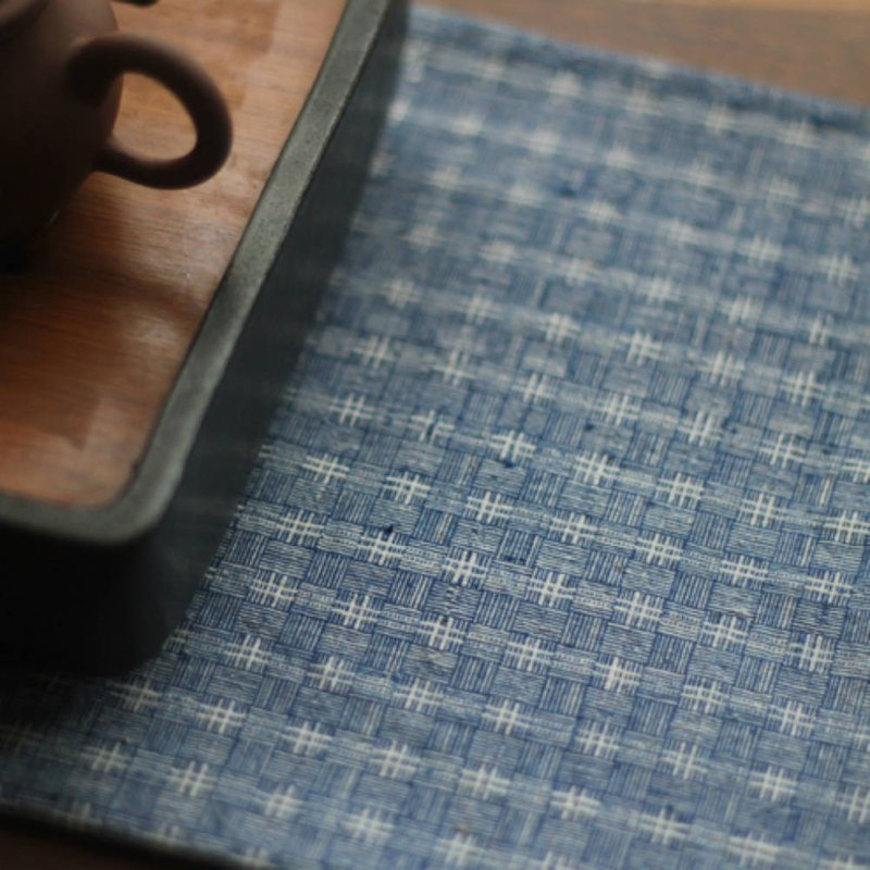 Blue reed cloth ant cloth color hand-woven cloth retro hand made napkin tea towel placemat tablecloth