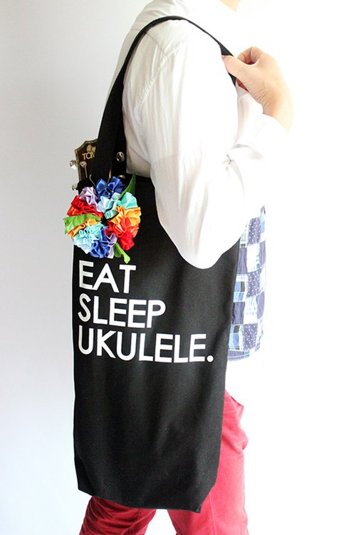 Ukulele bag,rainbow flower included,ukuelestrap,ukulelebag,uke,pride,lgbtq,