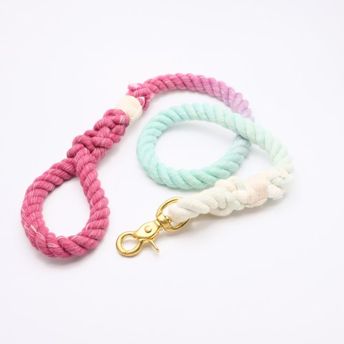 COTTON DOG LEASHES - WATERMELON  (90cm)