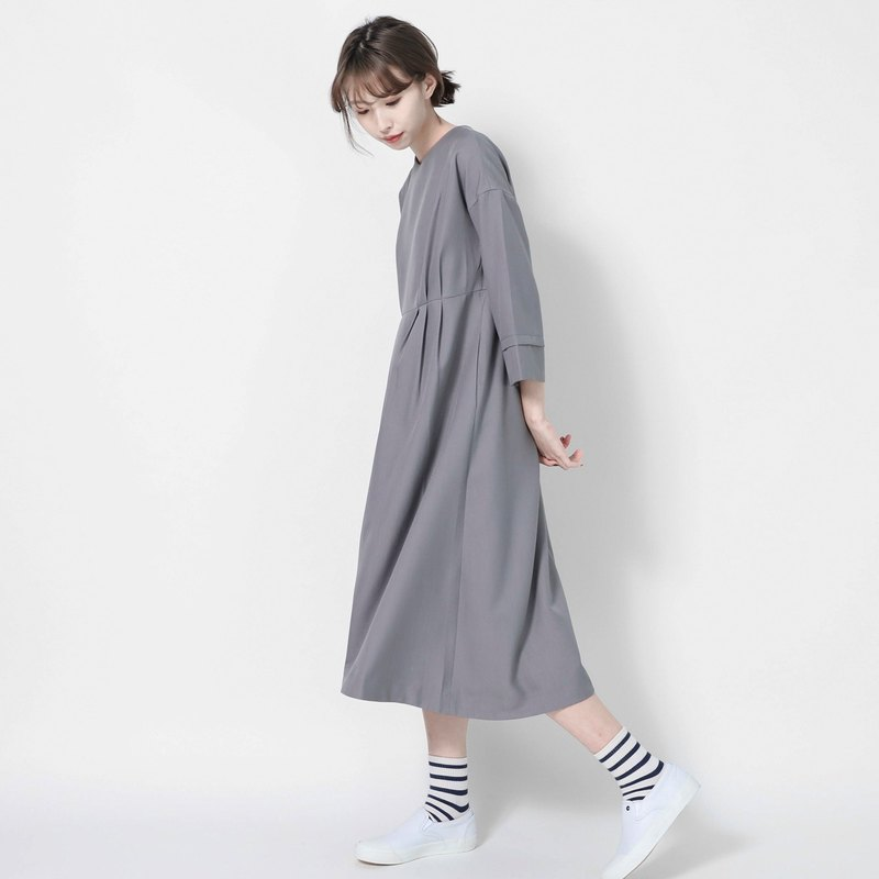 Alice Alice Folded Dress _7SF005_Light Gray