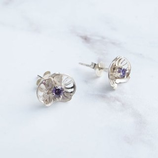 Bigman Taipa [Handmade × Orchid Series] Orchid Zircon Sterling Silver Earrings