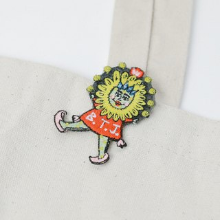 Belongs To J. Embroidery pins - Silly Flower Girl