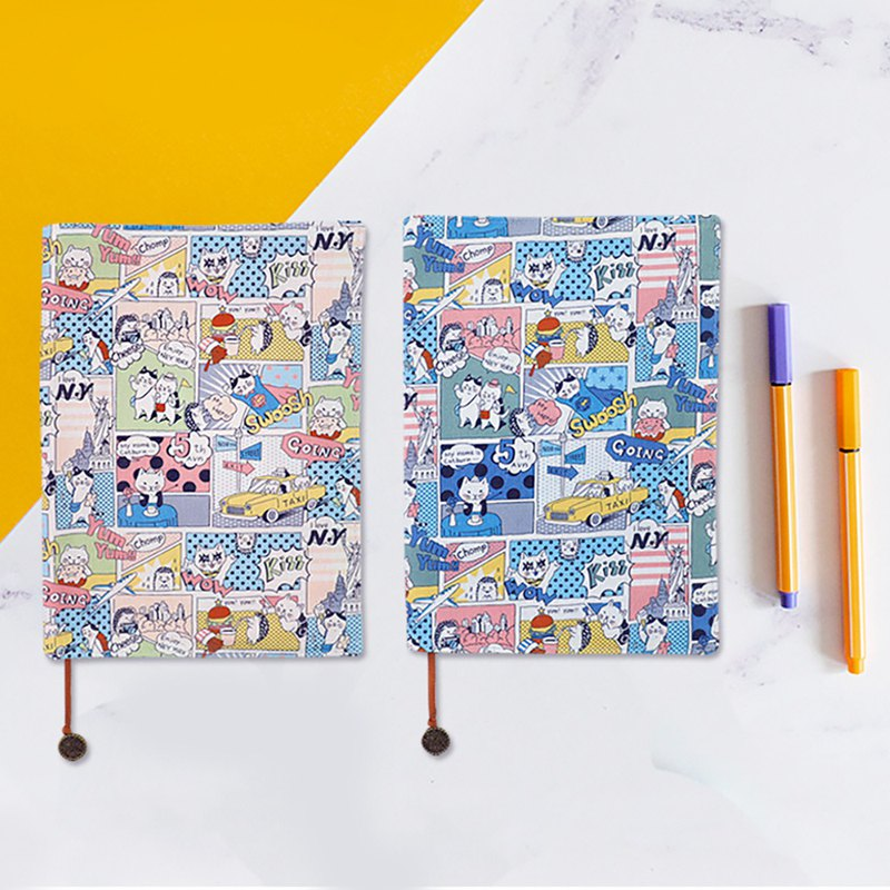B6 / 32K Taiwan flower cloth adjustable book cover / book cover / book cover-roaming New York cat