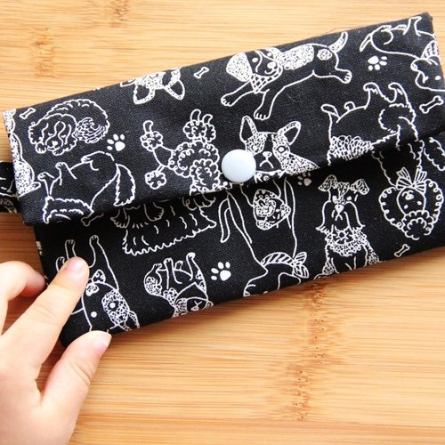 2018 dog to the rich million with a portable bag ~ black cotton bag. Purse. Card folder. Wallet. Work identification card