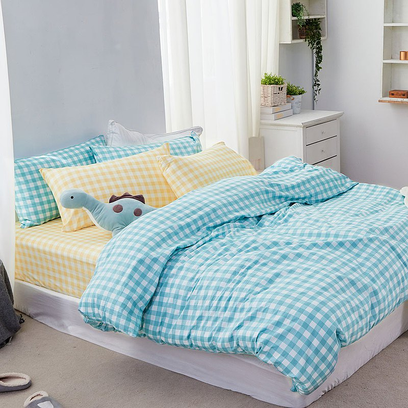 Bed and double-purpose quilt set-double plus / combed cotton four-piece / streamer genie made in Taiwan