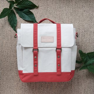 KELLY BAG - White/Red