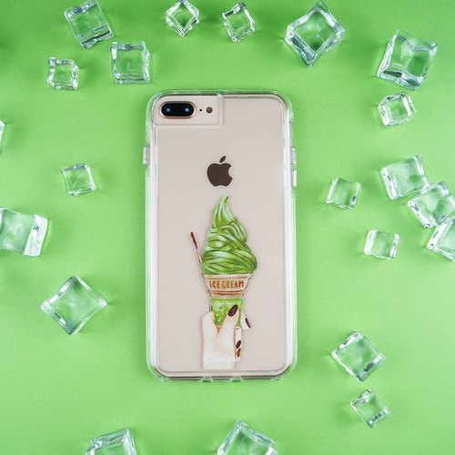 Two-in-one transparent shatter-resistant mobile phone shell net beauty ice cream