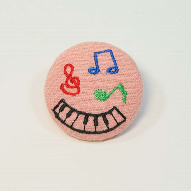 Embroidery 5cm pin 03-music