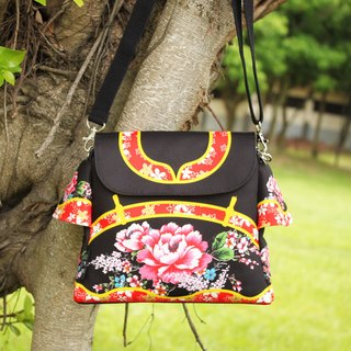 Taiwan traditional Printed pattern BAG (Black)