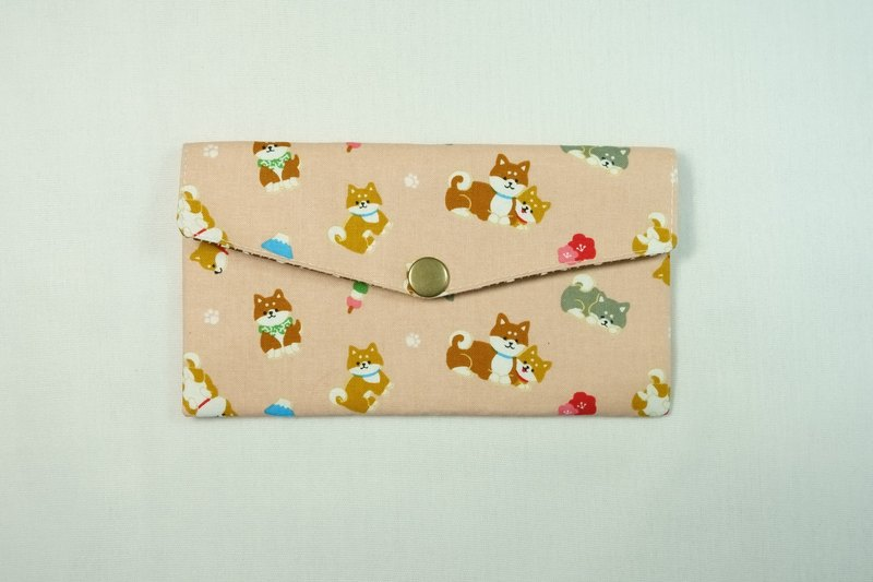 Play cloth hand made. 2017 Shiba Inu family (powder) red bag passbook storage bag