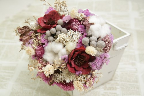 【Hydrangea Studio】 Hand-made colorful flowers bouquet flowers bouquet wedding photography modeling
