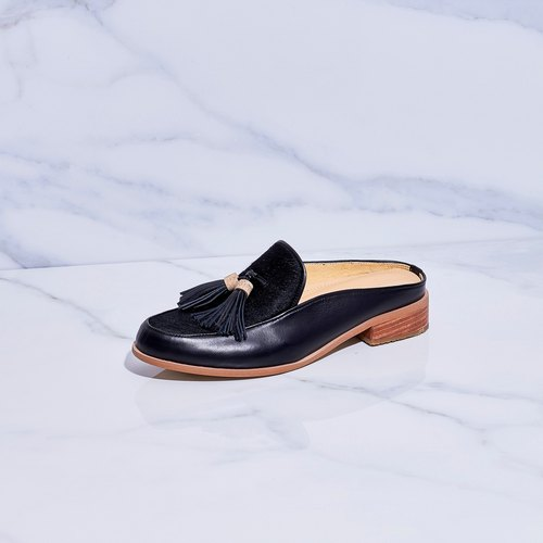 BLACK-Willow - Mule Loafers