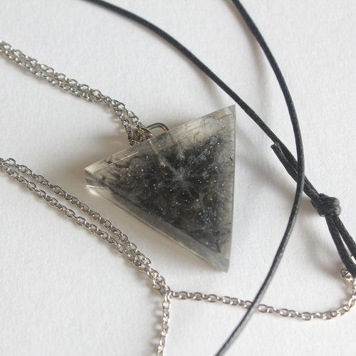 Resin Necklace / Dark Star Chaos