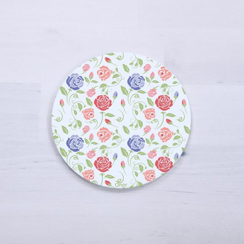 [small floral] absorbent coaster