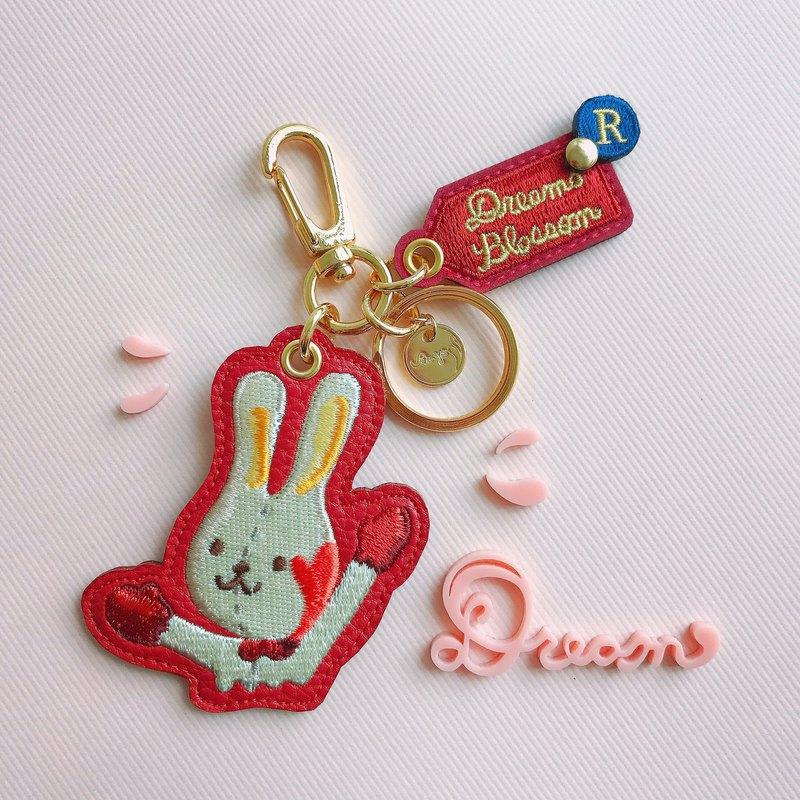 兔兔鑰匙圈 紅色