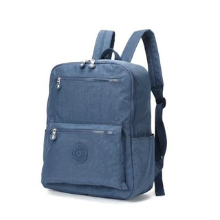 2018 new student bag waterproof nylon backpack simple wild travel bag leisure shoulder bag - blue-blue # 8506