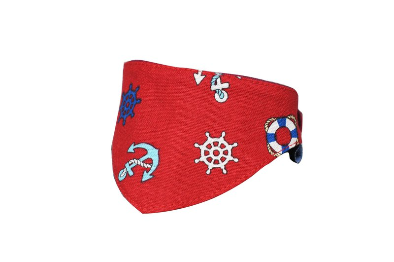 Pet triangle towel / scarf big red anchor 2L