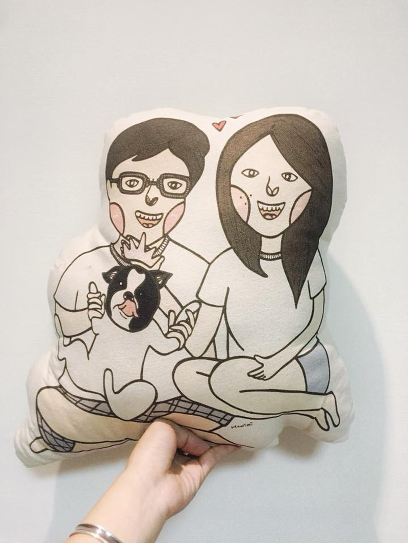 Homimi - Customized Pillow - Happy Wedding