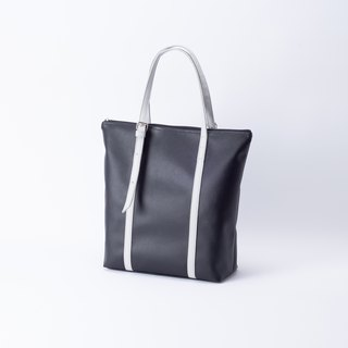 New product A4 dual-use tote bag black X gray