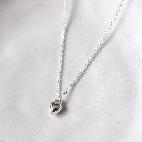 Mini Solid Heart ネックレス Silver925