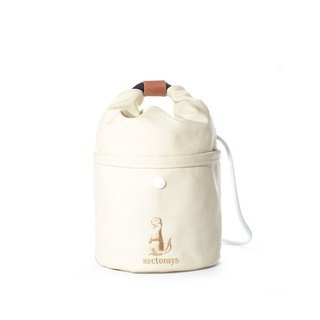 Arctomys EABA mini - waxed canvas bucket bag - Off White