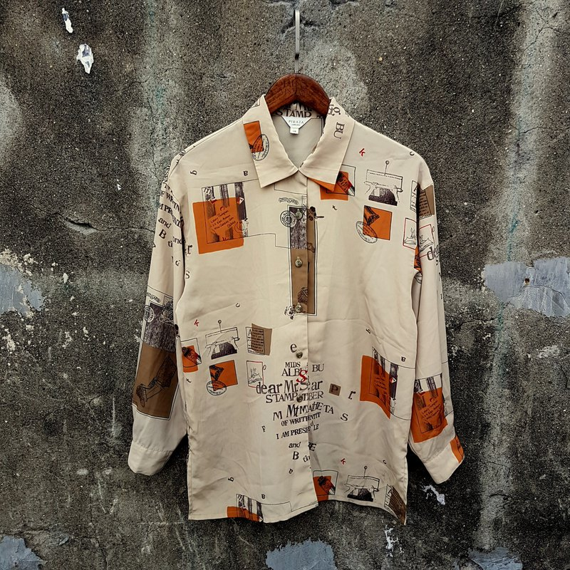 Gecko Gege - Japan - vintage worn shirt by artist