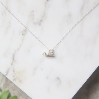 Happy Bluebird 925 sterling silver necklace