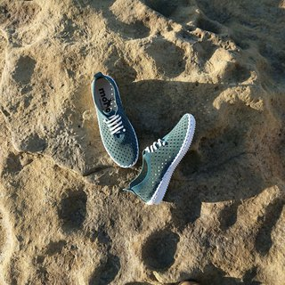 Lei embossed ukiyo-e surf leather casual shoes bite green Quetzal Green