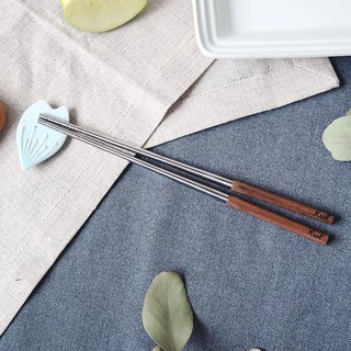 [KROLL] elegant titanium household chopsticks (walnut)