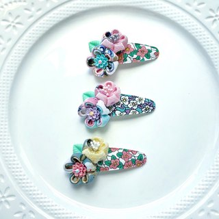 Double Japanese style and wind flower resin flower child baby water drop clip